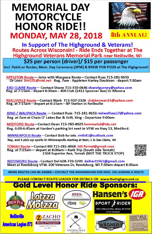 - HonorRide2018v4 - Memorial Day Motorcycle Honor Ride