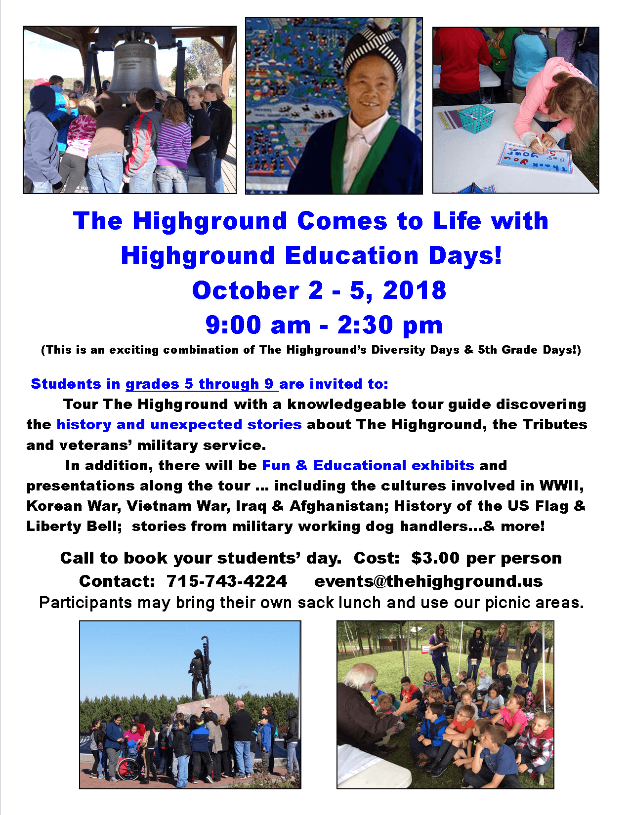 - 2018 Highground Education Days - Events