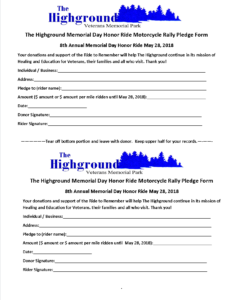 - 2018 Honor Ride pledge form 232x300 - Events