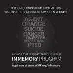In Memory Program Vietnam Veterans Memorial Fund in Washington D.C.